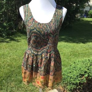 Free People Abstract Print Top Sz SP